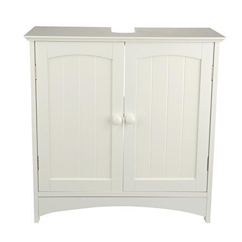 Waschtischunterschrank holz weiß  Waschtischunterschrank Holz MDF weiß 30 x 60 x 30 cm   Aussparung ...