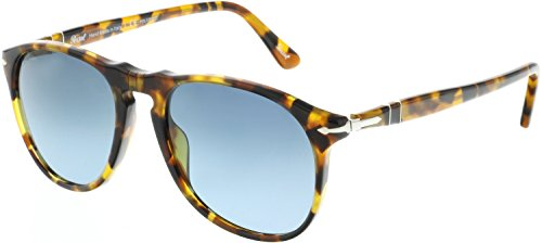 Persol PO9649S Sunglasses 1052S3-52 - Madreterra Frame, Blue Gradient Dark Blue - Dark Blue Gradient