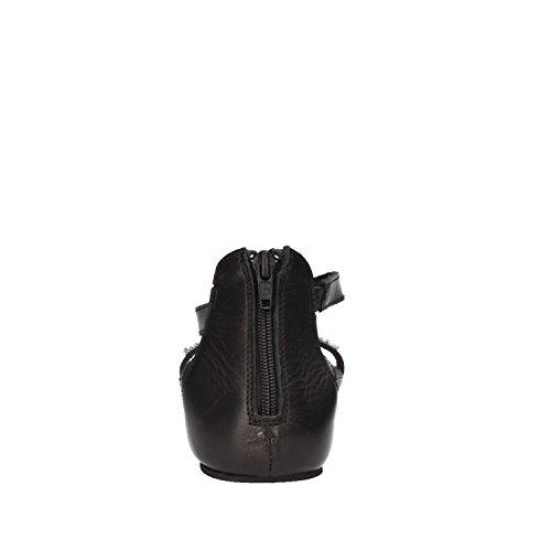 DOCKSTEPS Sandalias mujer negro cuero strass AG855