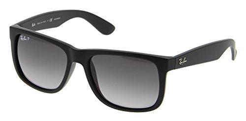 Ray-Ban Justin Black Polarized Sunglasses RB 4165 622/T3 55mm + SD Glasses + - Justin Rb Polarized