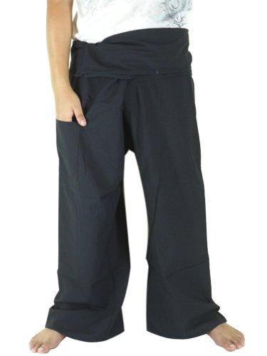 candyhusky-100-cotton-plus-size-mens-womens-fisherman-wrap-pants-casual-yoga-pants