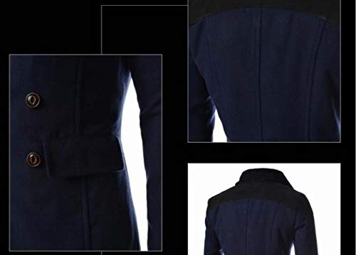 Warm Woolen Howme Collar Dust Men Navy Down Parka Turn Jackets Hoodie blue Coat a0FF5qUw
