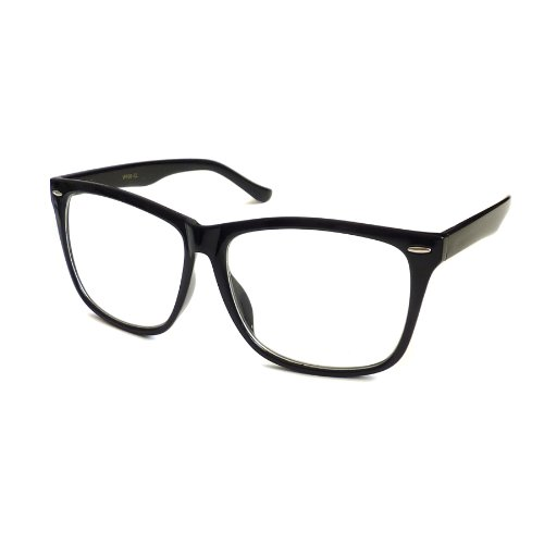 NERD Geek 50s Style Oversize Fashion Frame Unisex Clear Lens Eye Glasses - Glasses Geek Style