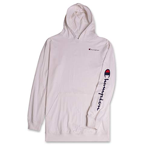- Champion Mens Big & Tall Long Sleeve Pullover Jersey Lightweight Hoodie White 3X