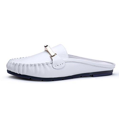 Los Zapatos De Las Mujeres,De Cuero Plano De Fondo De Moda Baotou Muller Zapatos A