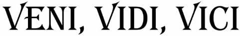 Pared Tattoo Cargar – Adhesivo Pared VENI, Vidi, Vici – 1 1 ...
