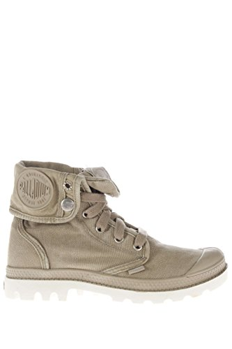 Palladium Mujer Sneaker alta PACAL0030 P027 Lady Baggy canvas plateado