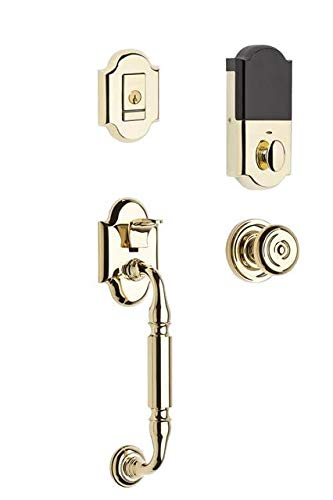 - Baldwin 85305.BENTR Evolved Canterbury Single Cylinder Sectional Handleset with, Lifetime Polished Brass