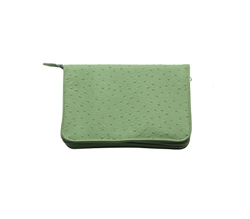 Reed & Barton L0804G Naples Green Grass Zippered Jewelry Case