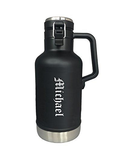 Personalized Stanley Classic Vacuum Growler 2Qt (64oz) - Matte Black by Stanley