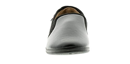 Croft Originals Neu Herren/Herren Schwarz Memory Foam Innensohlen Pantoffeln - Schwarz - UK Größen 6-12