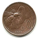 1929-R Italy 10 Centesimi Coin KM#60