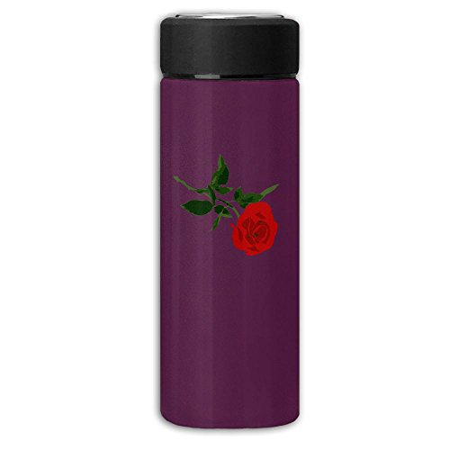 Rose For You Dull Polish Business Vacuum Flask Rustless Cup,Portable Water Bottle