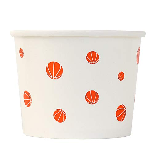 - Basketball March Madness Paper Ice Cream Cups - 12 oz Dessert Bowls Perfect For NCAA, NBA and Basketball Parties! Fast Shipping! Frozen Dessert Supplies - 50 Count