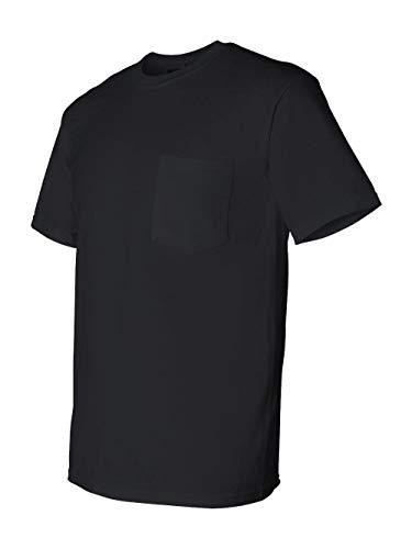 Gildan Mens DryBlend 5.6 oz 50/50 Pocket T-Shirt G830 -BLACK XL ()