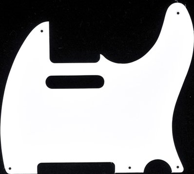 - MIJ Pickguard for Telecaster '52 White 1Ply fa-pg-tl52-w1