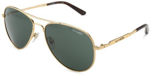 Arnette Trooper AN3065-02 Aviator Sunglasses,Polished Gold/Grey/Green,59 mm (Arnette Sunglasses Green)