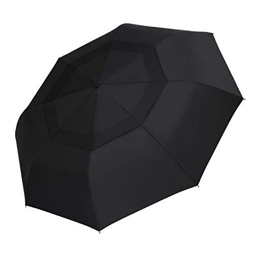 SHINE HAI Windproof Travel Umbrella, Double Canopy Construction, Automatic Open Close One Handed Operation, Compact Lightweight Umbrella Rain Snow
