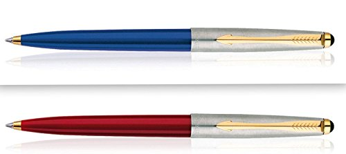- Parker Set of 2 Galaxy (Like Jotter, Classic) Standard Ball Point Pens Ballpens GT New Sealed Blue ink - 1 each of Body color Red and Blue