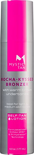 Mystic Tan Self-Tanning Lotion with Bronzer - Mocha-Kyssed lotion, 6 fl.oz.
