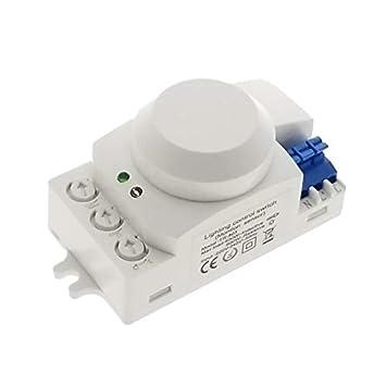 TOOGOO 5.8GHz HF System LED Microondas Sensor de Movimiento ...