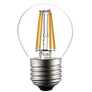 wdca ON G45 E27 4W 4xCOB 400LM 2800-3000K Warm White Light LED Filament Lamp (AC220V)
