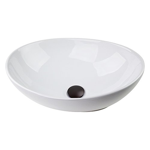 "13x13"" Round Bowl Sink & Oil Rubbed Bronze Pop-up Drain Ceramic Vessel Art Basin 50%OFF"