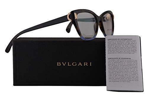 Bvlgari BV4122 Eyeglasses 54-17-140 Havana Gradient Blue w/Demo Clear Lens 5363 BV 4122 Bulgari ()