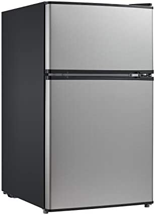 Midea 3.1 Cu. Ft. Compact Refrigerator, WHD-113FSS1 - Stainless Steel