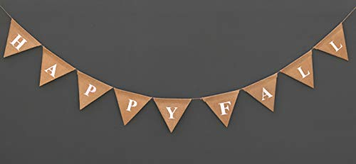 - HAPPY FALL Burlap Banner - Thanks Giving Decoration banner - Party Picnic Decoration - Autumn Garland - Happy Fall Sign - Home Décor - Rustic Chic Fall Décor