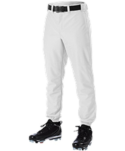 Alleson ADULT BASEBALL PANT WHITE M 605P 605P-WH-M ()