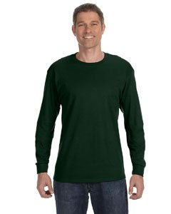 (Jerzees Men's Heavyweight Blend 50/50 Long Sleeve T-Shirt (Forest Green, XX-Large) )