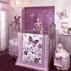 Lambs & Ivy Bedding Sheet, Butterfly Lane, Girl's 5 Piece Bedding Set