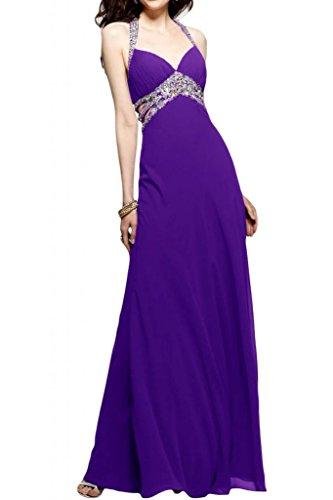 Toscana sposa Chic Chiffon Rueckenfrei stanotte vestimento un'ampia Party ball abiti da sera per mode viola 44
