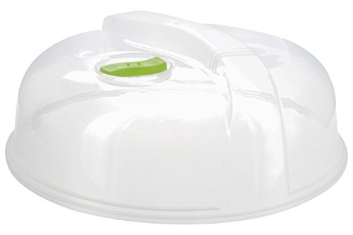 (Ram-Pro Plastic Microwave Plate Cover Spatter Guard w/Paragon Steam Vented Clear Lid)