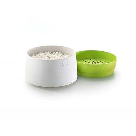 Lékué Recipiente para cocinar arroz y grano en microondas
