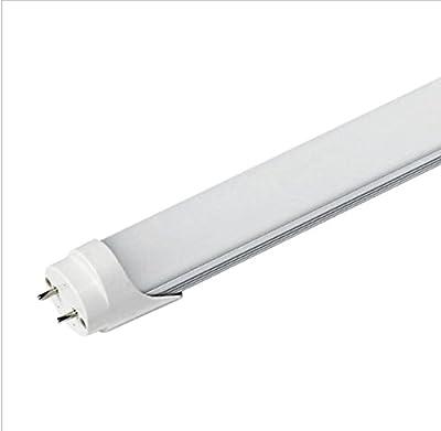 CIDA T8 LED tube, 4 feet, 48inches, 18W, 96pcs LED, 6000K white, 2000 lumens, 50,000 hours! Warranty 5years. LED tube, milky white cover, UL, DLC plug, double-sided connectio