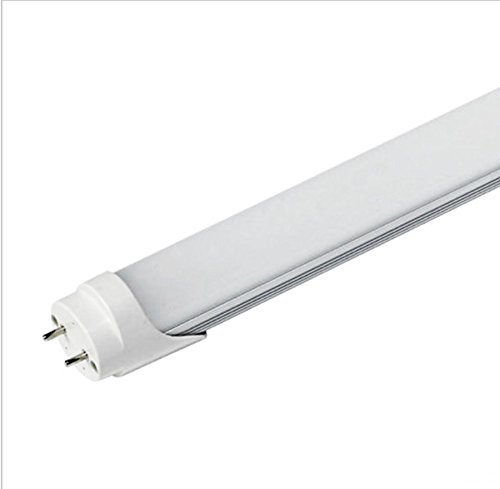 ZTSS T8 LED Light Tube, 5FT 60In 24w (Equivalent 100W Fluorescent Bulb), 3000K (Warm Light), 2500~3000 Lumens, 50000 Hours, Milky Cover, CE & UL & DLC Certification Dual-End & Single-End Power (4PACK)