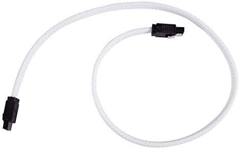 Ctzrzyt 50 CM SATA 30 III SATA3 7pin Datakabel 6 Gbs SSD Kabels HDD Harde Schijf Datakabel met Nylon Mouwen Premium Versie Wit