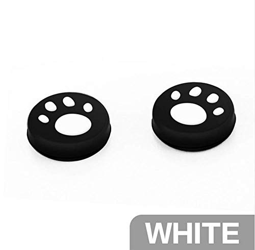 Silicone Thumb Stick Grips Cap Cover Case Thumbsticks CapsThumbsticks for Nintendo Switch Sony PS4 PS3 Xbox ONE Xbox 360 WII Controller Joystick Controle Cat Dog Paw(White)