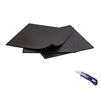 3Pcs Rubber Sheet Black,Heavy Duty,6.3?x6.3?x0.059?, Gaskets DIY Material, Supports, Leveling, Sealing, Bumpers, Protection, Abrasion, Flooring
