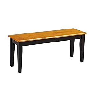 Boraam 36536 Shaker Bench, Black/Oak