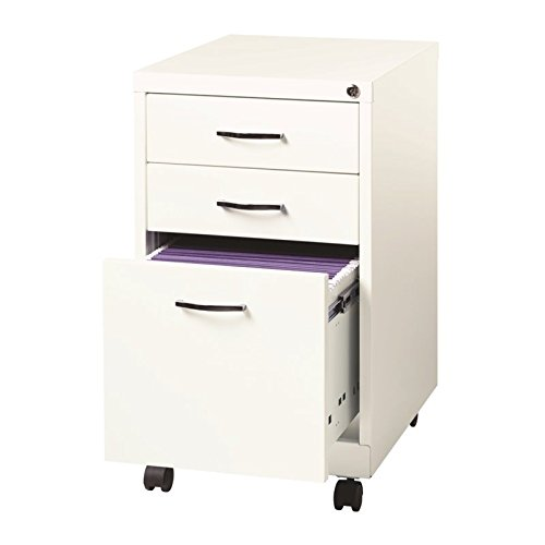 Lorell LLR21028 SOHO File Cabinet, 26x19x15, White