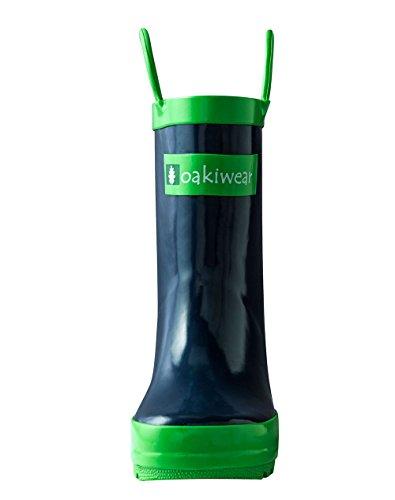 Oakiwear Children's Waterproof Rubber Rain Boots with Easy-On Handles, 12 Navy Blue by Oakiwear (Image #3)