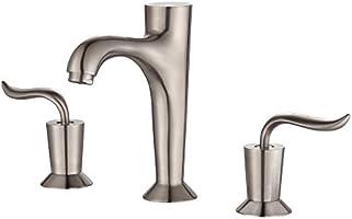 "Kraus FUS-13803BN Coda Widespread 2-Handle Bathroom Faucet, 8"", Brushed Nickel"