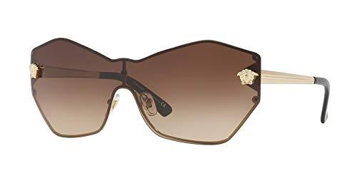 Versace Woman Sunglasses, Brown Lenses Metal Frame, ()
