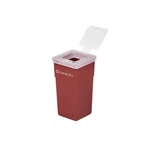 Curaplex Sharps Container with Flip Lid, Red, 1 Quart