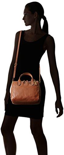 Fossil Brown Medium Handbag Fiona Satchel Hw6Yq1g