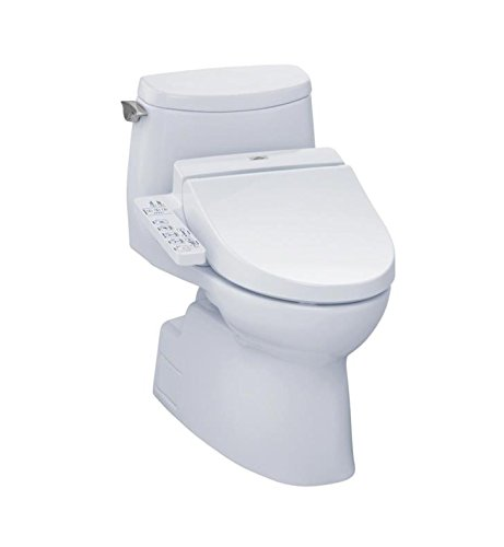 TOTO CST614CUFGT20#01 Carlyle II 1G One-Piece Connect+ Elongated Bowl with 1.0 GPF Single Flush