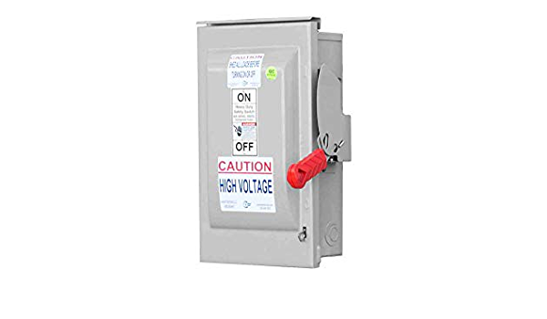 60 Amp Fusible Manual AC Disconnect Safety Switch - 600V AC - 3-Pole - -  Amazon.comAmazon.com